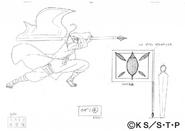 Arte Pierrot - Bandeira de Kazami
