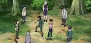 El Equipo Guy se reúne con el Equipo Asuma y el Equipo Kurenai