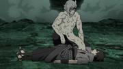 Kabuto sanando a Sasuke