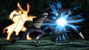 Kakashi utiliza o Raikiri