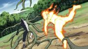 Naruto lutando contra o Zetsu Negro