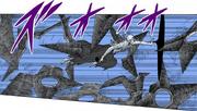 Obito Jin destrói as Shuriken de Hiruzen (Mangá)