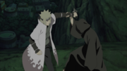 Obito luchando Contra Minato
