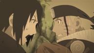 Sasuke gritando ante Naruto