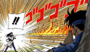 Técnica do Dragão de Fogo de Sasuke (Mangá Colorido)
