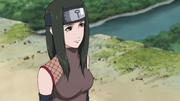 Hanare com seu traje de ninja