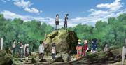Neji se reúne con los otros Genin