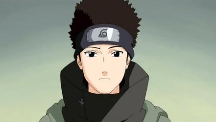 Shino con ojos de Sasuke
