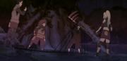 Ino y su equipo atrapando a Hidan