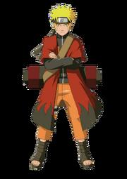 Naruto avec un manteau