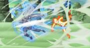 Naruto enfrentando al Tercer Raikage