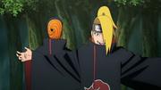Tobi e Deidara encontram Sasuke