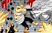 Kaguya acerta Naruto Mangá