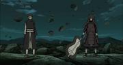 Madara llega a la Batalla de Obito y Naruto