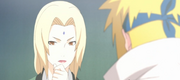 Tsunade y Minato hablando sobre las Mariposas Shinobi