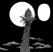 A Árvore Gigantesca prestes a ser refletida pela Lua