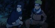 Naruto e Sasuke durante a luta contra Kajika