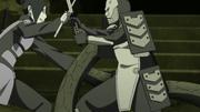 Mitsuki enfrentando a Orochimaru