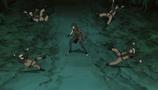 Kurotsuchi derrota clones de Naruto