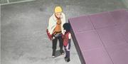 Naruto detiene a Sarada Anime