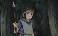 Akio com sua lança