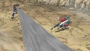 Elemento Viento Jutsu de Tormenta de Polvo Anime