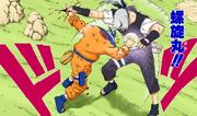 Naruto acerta o Rasengan em Kabuto