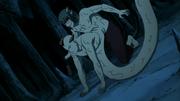 Kabuto usando os poderes de Jirōbō