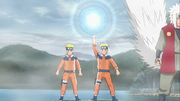 Naruto cria a Grande Bola da Esfera Espiral