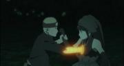 Naruto sacando el jutsu de Toneri dentro de Hinata-1