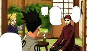 Shikadai arrivant chez lui