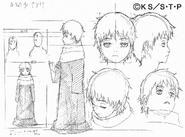 Arte Pierrot - Sasori Criança