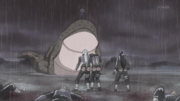 Jiraiya, Orochimaru y Tsunade siendo nombrados como los legendarios Sannin