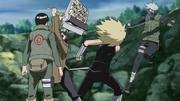 Kushimaru e Jinpachi vs. Guy e Kakashi