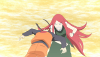 Kushina attacks Naruto