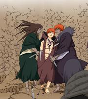 Sasori é atingido por Mãe e Pai (Mangá)