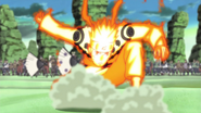 Naruto chega no campo de batalha