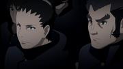 Shikamaru e Rō misturados aos subordinados de Gengo