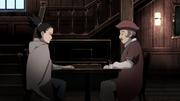 Shikamaru tenta obter informação com o viajante