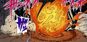 Fuego Rugiente de la Llama de Gato Manga