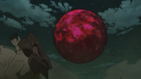Gigantesca Bola de Bestia con Cola creada por el Diez Colas en su aparente tercera forma