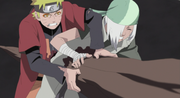 Naruto and Ryuzetsu injured