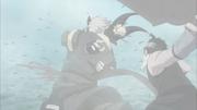 Zabuza corta Haku no meio