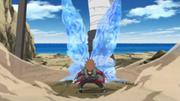 Chōji crea unas alas de chakra en su lucha contra Asuma