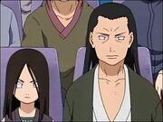Hiashi et Hanabi pendant l'Examen Chûnin