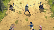 Kakashi atrapado por los Hermanos Diabólicos