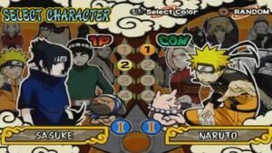 Naruto Ultimate Ninja 4 Selección de personajes