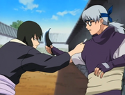 Shizune and Kabuto clash