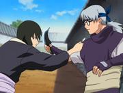 Shizune and Kabuto clash