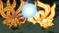 Rasengan de Padre e Hijo Versión de Minato y Naruto Anime 1